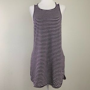 CALIA by Carrie Strappy Striped Workout Tank Top